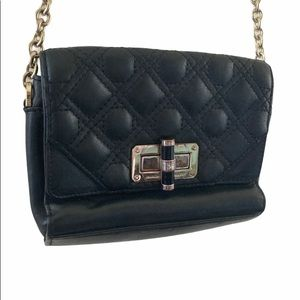 DVF micro mini quilted leather crossbody chain